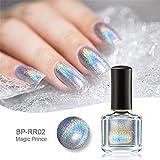 Born Pretty 6ml Holographic Nagellack Holo Glitter Superglanz Nagelkunst (Magisch Regenbogen)