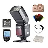 Godox V860IIS Ving 2,4GHz GN60 TTL HSS 1/8000s Li-on Battery Kamera Blitz Speedlite für Sony DSLR Kamera (1.5S Recycle Time 650 Full Power Pops, Supports TTL/M/Multi/S1/S2) Schwarz