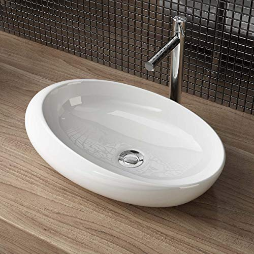 Waschbecken24 DESIGN KERAMIK AUFSATZWASCHBECKEN WASCHSCHALE HANDWASCHBECKEN GÄSTE WC TOP A290