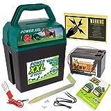 VOSS Power XXL B 9.000 | Effektives Weidezaungerät 9V/12V | Set inklusive Batterie und internationalem Warnschild | Qualität zum Kampf-Preis | Elektrozaungerät für Ihren sicheren Weidezaun | Pferd