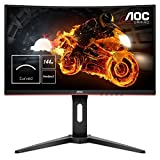 AOC Gaming C24G1 59,9 cm (24 Zoll) Curved Monitor (HDMI, DisplayPort, FreeSync, 1ms Reaktionszeit, 144 Hz, 1920x1080) schwarz