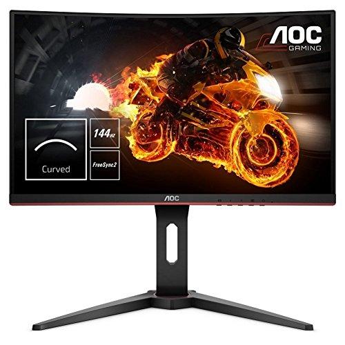 AOC Gaming C24G1 59,9 cm (24 Zoll) Curved Monitor (HDMI, DisplayPort, FreeSync, 1ms Reaktionszeit, 144 Hz, 1920x1080) schwarz