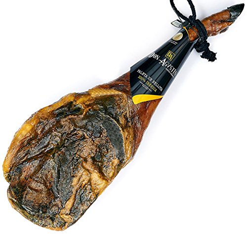 Pata Negra Schinken 100% Iberico aus Eichelmast (Vorderschinken) 4 - 4.5 Kg | Spanischer Jamon Iberico (Paleta Iberica Pura de Bellota)