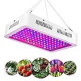EECOO LED Pflanzenlampe Vollspektrum 1200W LED Grow Light mit Doppel Chips 120 LEDs, IR und UV Wachstumslampe Pflanzenlicht für Zimmerpflanzen Gemüse und Blumen