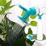 Vektenxi 2 In 1 Kunststoff Sprinklerdüse Für Blumengießer Flaschengießer Sprinkler Duschkopf für Pflanzen Gemüse Blau Premium Qualität