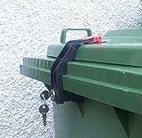 Mülltonnenverriegelung, 60 - 360 Liter, verschiedenschließend (Siehe Foto)