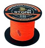 Stork HDx8, 8-Fach geflochtene premium Angelschnur 600m (Orange, 40 lbs / 18.1 kg / 0.28 mm)