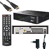 Edision Kabelreceiver progressiv hybrid lite LED DVB-C für digitales Kabelfernsehen inkl. Kabelabel HDMI Kabel