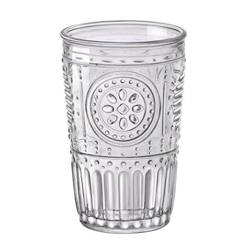 Bormioli Rocco– Romantic– Gläser im 6er-Set– 325ml– aus durchsichtigem Glas– 8x8x12,5cm