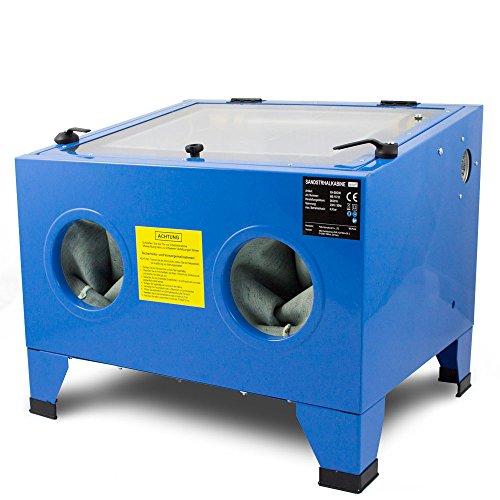BITUXX Sandstrahlkabine 90 L Liter Sandstrahlen Industrie Tisch Sandstrahlgerät