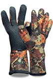 Neoprenhandschuhe Wasserdicht Taucherhandschuhe 2.5MM Neoprene Diving Gloves S Cami