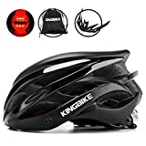KING BIKE Fahrradhelm Helm Bike Fahrrad Radhelm FüR Herren Damen Helmet Auf Die Helme Sportartikel Fahrradhelme GmbH RennräDer Mountain Schale Mountainbike MTB (Schwarz und Titan, L(56-60CM))