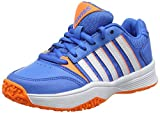 K-Swiss Performance Unisex-Kinder Court Smash Omni Tennisschuhe, Blau (Brilliant Blue/Neon Orange/White 428M), 32.5 EU