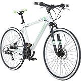 Galano 26 Zoll Toxic Mountainbike Hardtail MTB Jugendmountainbike Jugendfahrrad, Farbe:Weiss/grün, Rahmengrösse:36 cm