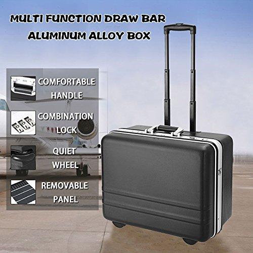 Homdox Werkzeugkoffer Werkzeugtrolley Werkzeugkiste mit erstellbarem Tragegurt und abnehmbarer Werkzeugtafel (51 x 40 x 28cm)