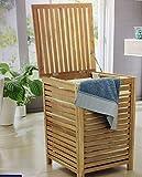 Wäschetruhe Wäschebox Aufbewahrung Holz Sitztruhe Wäschesack Kleinmöbel 100 Kg