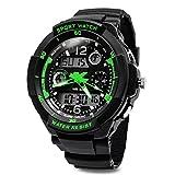 TOPCABIN Jungen Uhren Mädchen Uhren Kinder Armbanduhr Jungen Digital Analog Wasserdicht Sports Uhren für Jungen und Mädchen Digital Uhr Sports Uhren Grün