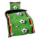 Fußball Bettwäsche 135x200 / 80 x 80 cm ' Spielfeld '