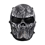 StillCool Maske Halloween Maske Maskerade Karneval Partei Masken Paintball Maske Kompletter Schutz (grau)