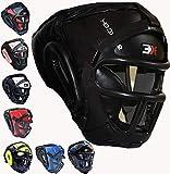 Grillkopfschutz Maya Hide Leder Boxing MMA Protector Kopfbedeckung UFC Fighting Full Face Kopfschutz Sparring Helm
