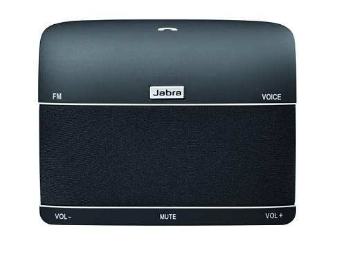 Jabra Freeway Bluetooth KFZ Freisprecheinrichtung (Deutsche Sprachsteuerung, kabellose Freisprechanlage zum sicheren telefonieren im Auto, einfaches Anbringen an der Sonnenblende) schwarz