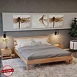 Krokwood Valetta Massivholzbett in Buche FSC 100% Massiv, Natur geölt Buchebett, billig Holzbett mit Kopfteil, massivholz Bett vom Hersteller (100 x 200 cm)