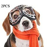 XDYFF UV Sonnenbrillen Goggles Hundebrillen Sonnenschutz für UV-Sonnenbrillen Wasserdichter Schutz für kleine und mittlere Hunde 2pcs