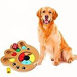 GFEU, Haustier-Intelligenz-Spielzeug, umweltfreundlicher, interaktiver Spaß – Futter-Versteckspielzeug für kleine und mittelgroße Hunde und Katzen, aus Holz.