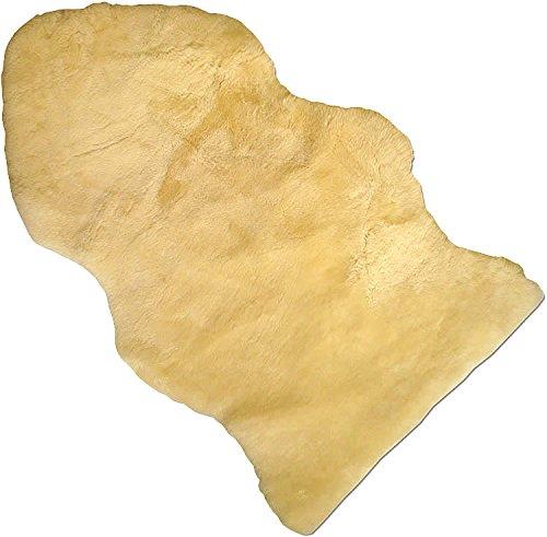 Baby Lammfell Naturform geschoren medizinisch gegerbt 100% Merino Lammfell Naturfell Premium Qualität waschbar ca. 70cm Länge Farbe med.