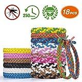 Homtiky Mückenschutz Armband, 18 Stück Mückenarmband aus 100% natürlichem Pflanzenextrakt, Anti Mücken Armband, Insektenschutz für Kinder und Erwachsene