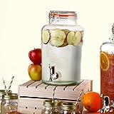Kilner Getränkespender, 5Liter, Glaskrug, für diverse Getränke, mit Zapfhahn
