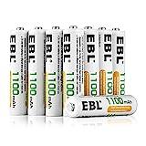 EBL 8er Pack 1100mAh hohe Kapazität AAA Micro NiMh Akku wiederaufladbare Akkus 1200 Ladezyklen geringe Selbstentladung