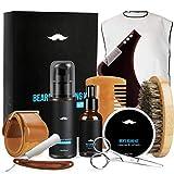 Bartpflege Set, Fixget Bartpflege Set 10 Geschenkset für Männer-Bartöl, Bartbalsam , Bartbürste, Bartkamm, Bartschere, Styling Werkzeug, Bartschürze, Bartschampoo, Rasiermesser, Messertuch