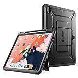 SUPCASE iPad Pro 12.9 Hülle Support Pencils Laden 360 Grad Case Bumper Schutzhülle Cover [Unicorn Beetle PRO] mit eingebautem Displayschutz und Ständer für iPad Pro 12.9 Zoll 2018 (Schwarz)