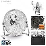 TROTEC 1510006031 Bodenventilator TVM 18 Chrom-Design, Durchmesser 45 cm