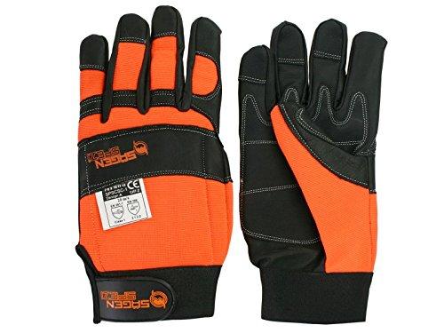 Schnittschutz Sägenspezi - Handschuhe Größe L / 10 - Forsthandschuh für Motorsäge / Kettensäge