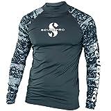 SCUBAPRO Rash Guard Langarm Herren Slim Fit UV-Shirt UV Schutz (Graphite, XXL)