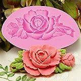 nicebuty 3D Rose Blume Kuchen Silikon Form Fondant Kuchen dekorieren