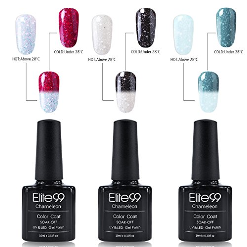 Elite99 thermo nagellack UV nagellack gel shellac set nagellack nail polish set soak off gel thermo gel (1xStück 10ML)
