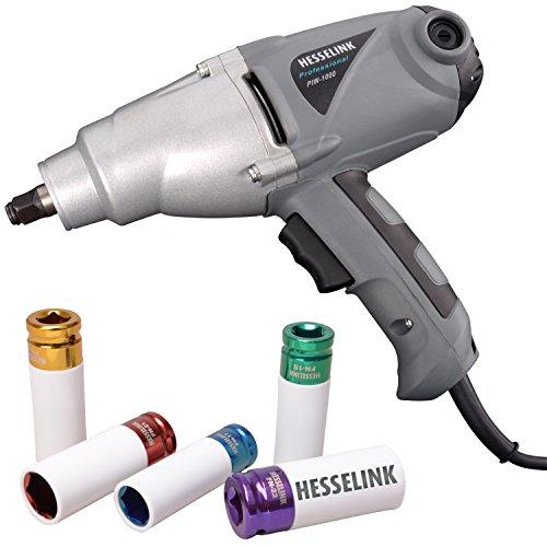 Hesselink Elektro Schlagschrauber PIW-1000 incl. 5-tlg. Felgennuss-Satz I 230V I Profi-Schrauber für Reifenwechsel und mehr I überall dort einsetzbar, wo keine Druckluft vorhanden ist