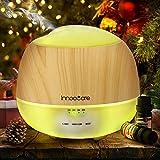 Aroma Diffuser 500ml Öl Luftbefeuchter Ultraschall Humidifier Holzmaserung LED mit 7 Farben für Babies Kinderzimmer, Auto, Wohnzimmer, Schlafzimmer, Büro, Yoga, Spa, Raum usw