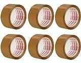 Packatape 6 Rollen 48MM x33M Verpackungsband für Pakete und Boxen,Braun