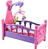 Puppenbett Accessoires Decke Kissen Karussell Rosa Himmel #1400