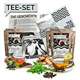 Tee Probierset Tees aus aller Welt Geschenkbox | 10x25g Tee Weltreise Geschenkidee Geschenkset für Frauen Männer | Tee Box Geschenk Box Geburtstag Weihnachten