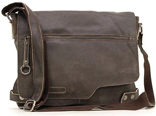 Ashwood Umhängetasche 'Camden' - Braun - Größe: B: 34 cm, H: 29 cm, T: 9,5 cm