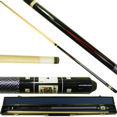 Trademark Poker 40-549BL Schwarz Royal Family Poker Billard Cue