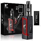 Kupbox E Zigarette Starter Set Ohne Nikotin, 10-80W E Shisha Dark Rider E Zigarette mit 0.5Ohm 2ml Verdampfer Tank, 2000mah Akku Kit- Rot