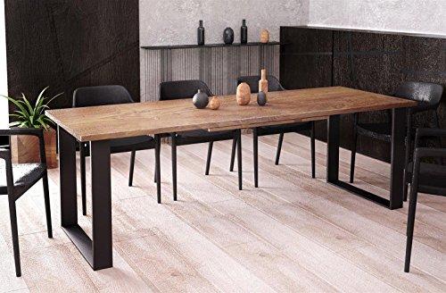 Kufentisch Esstisch Cora Nussbaum ausziehbar 130cm - 210cm Küchentisch mit Kufen Design