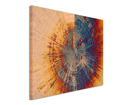 XXL Fotoleinwand 120x80cm Vintage Gemälde eines Baum Querschnitts auf Leinwand exklusives Wandbild moderne Fotografie für ihre Wand in vielen Größen