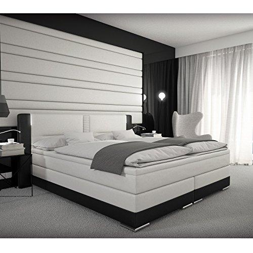 Boxspringbett 180x200 cm Bett Doppelbett Hotelbett Komplettbett Designerbett inkl. LED